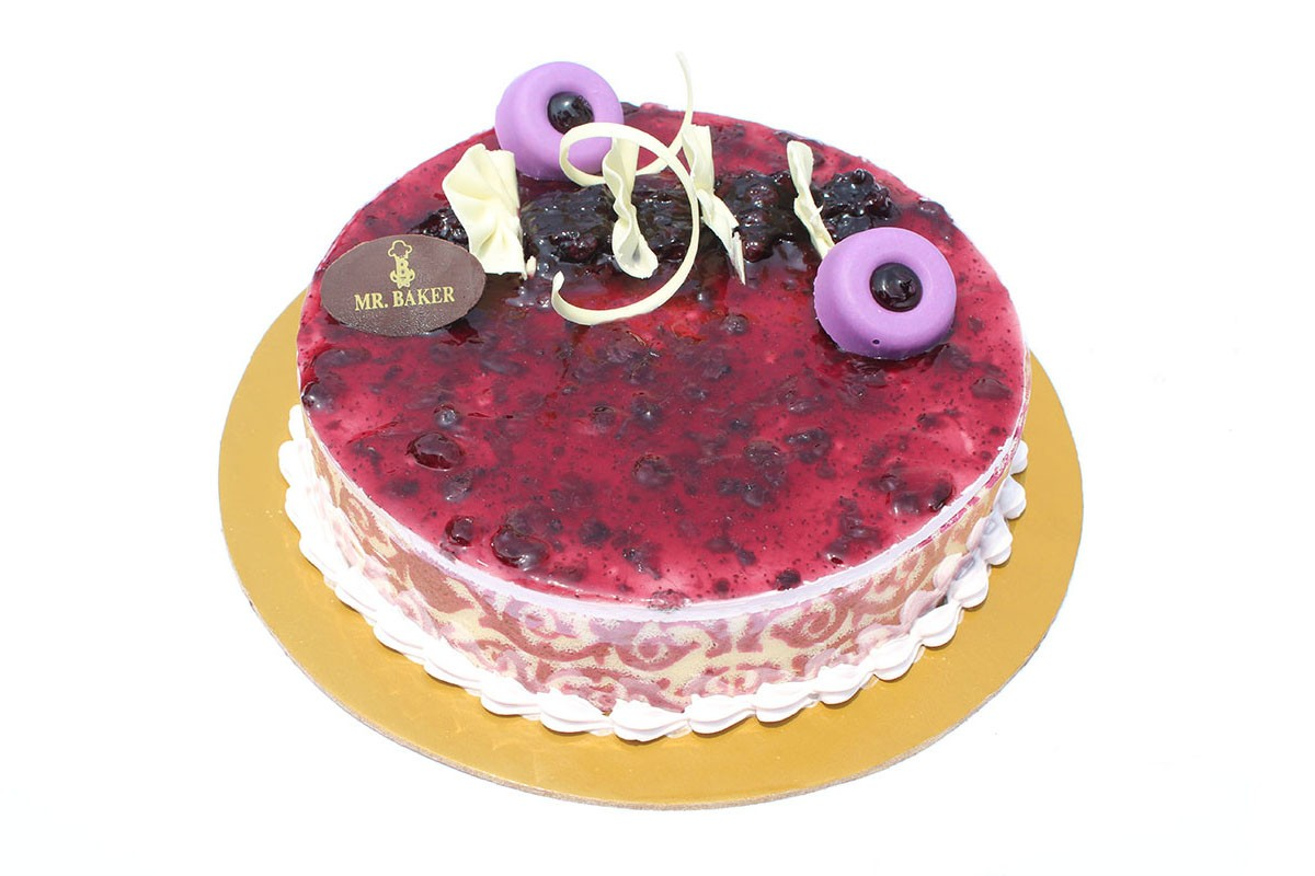 BLUEBERRY MOUSSE CAKE